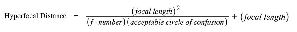 Hyperfocus Distance Formula