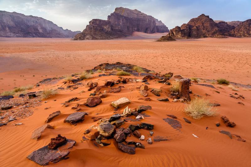 Hyperfocal Distance Wadi Rum Desert Landscape