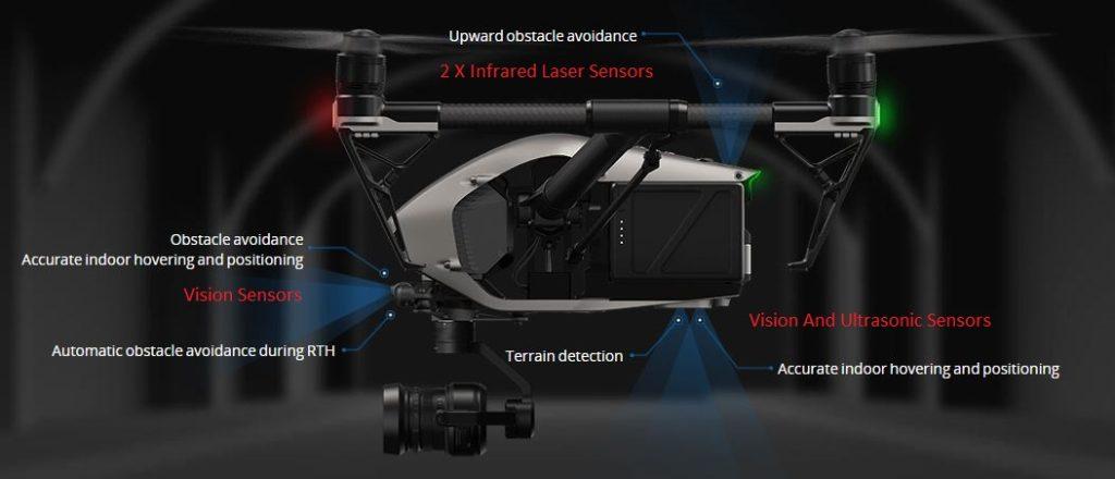 DJI Inspire 2 Collision Avoidance Drone