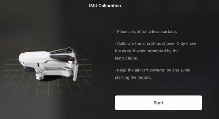 How To Calibrate The Mavic Mini Compass IMU And Gimbal